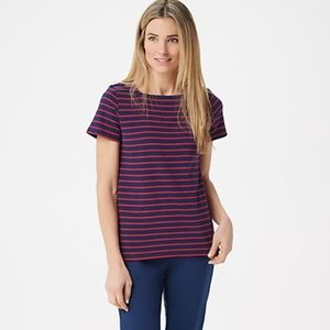 BROOKE SHIELDS Short-Sleeve Square-Neck Top
